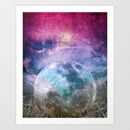 MOON under MAGIC SKY I Art Print