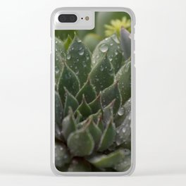 Rained on Cacti Clear iPhone Case