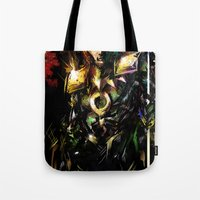 loki Tote Bags featuring Loki by Vincent Vernacatola
