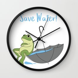 Saves Water for Frog Wall Clock