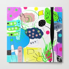 Dessin numerique multicolore enfantin    Digital drawing multicolor kids Metal Print