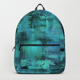 Faux Finish Blue Backpack