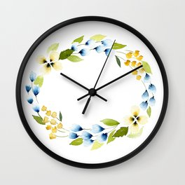 Don't Be a Pansy Wall Clock