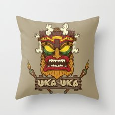 Uka-Uka (Crash Bandicoot) Throw Pillow