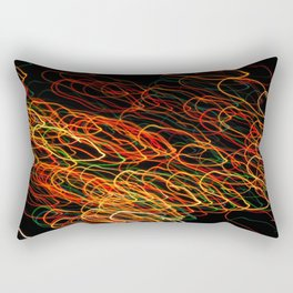 Circle Lights Rectangular Pillow