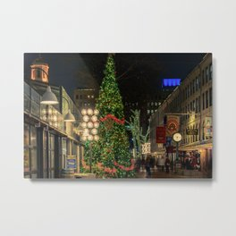 Boston is ready for Christmas  Metal Print