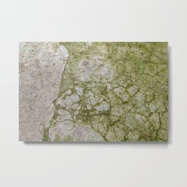 broken and mossy concrete Metal Print
