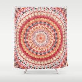 Oriental Sun Mandala Shower Curtain