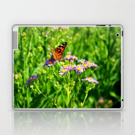 Butterfly and Flowers Laptop & iPad Skin