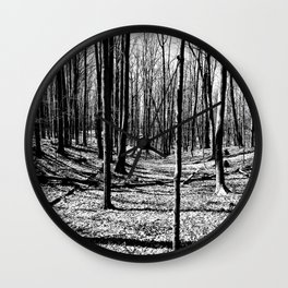 Before the Leaves Wall Clock