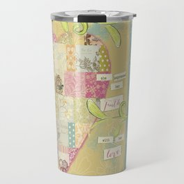 She Expressed Her Faith by Terri Conrad Designs Travel Mug