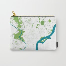 Philadelphia Map - Green Spaces Philly Parks Carry-All Pouch