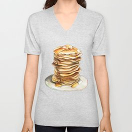 Pancakes Unisex V-Neck