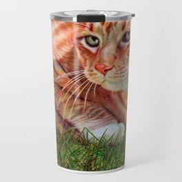 Ginger Cat - Ballpoint pen Travel Mug