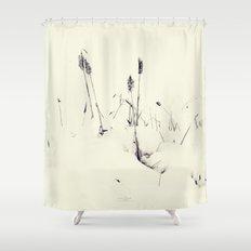 Winter Cattails Shower Curtain
