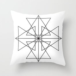 Triangle Love Throw Pillow