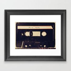 mix tape Framed Art Print