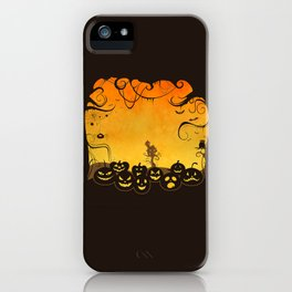 Halloween Pumpkin Faces iPhone Case