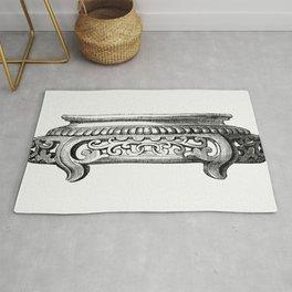 Elegant Decorative Design (1862) from Gazette Des Beaux-Arts a French art review Rug