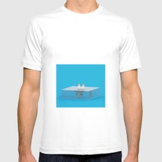 drowned (voxel) MEDIUM Mens Fitted Tee White