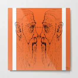 Look at me (orange) Metal Print