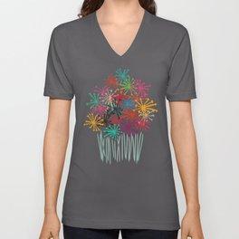Flower Bouquet Unisex V-Neck