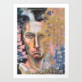 Stencil Gold Portrait Art Print