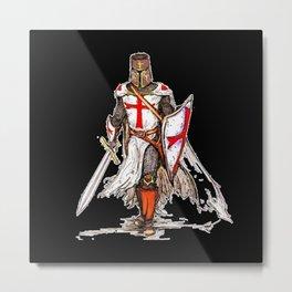 Templar Knight Metal Print
