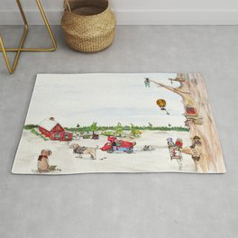 Elf child and friends Rug