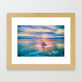 The Strange Ice Circle of Baikal Framed Art Print