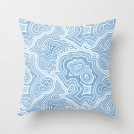 Blue Lace Agate Throw Pillow