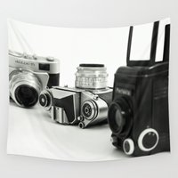 cameras Wall Tapestries featuring cameras by Falko Follert Art-FF77