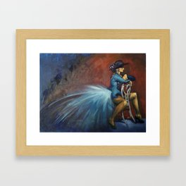 Peacock Dancer Framed Art Print