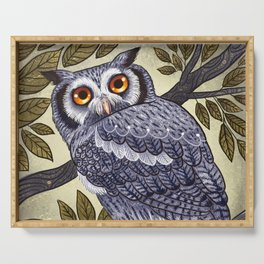 White Faced Owl Serving Tray