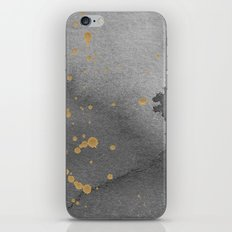 Gray and gold iPhone & iPod Skin
