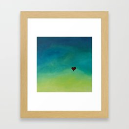 Swelling Heart Framed Art Print