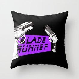 Time to die Version Neon Purple Throw Pillow