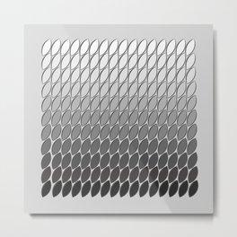 Silver Leaves Metal Print