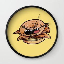 Glazed Donut Breakfast Sandwich Wall Clock