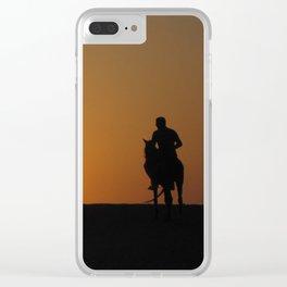 Three Horsemen Clear iPhone Case