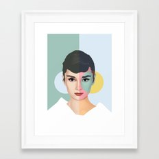 Colorful Audrey Framed Art Print
