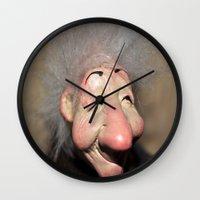 elf Wall Clocks featuring elf by  Agostino Lo Coco