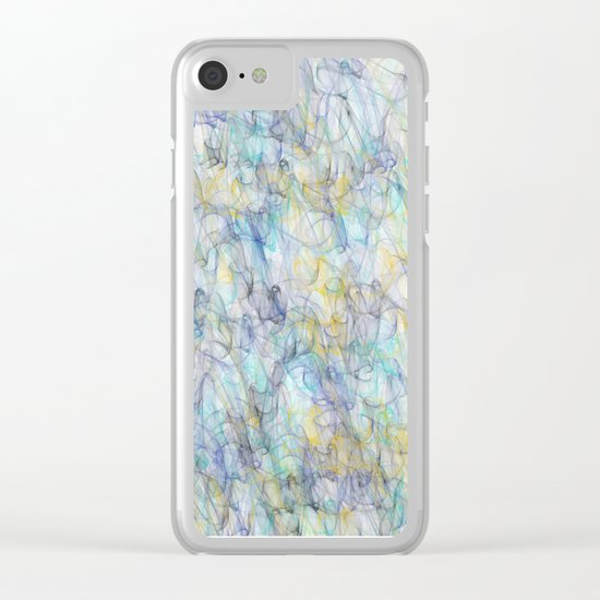 Smoke pattern Clear iPhone Case