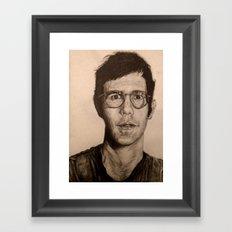 Man in Glasses Framed Art Print