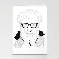 woody allen Stationery Cards featuring Woody Allen by lena kuzina