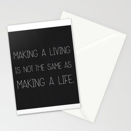 Make a life. Stationery Cards