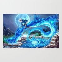 jack frost Area & Throw Rugs featuring Frost Dragon by Meekobits