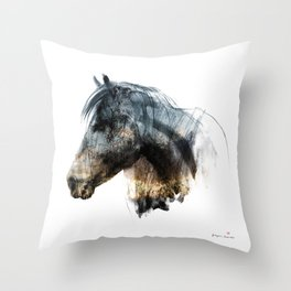 Horse (Into the wild) Throw Pillow