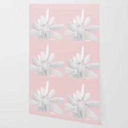 White Blush Cactus #1 #plant #decor #art #society6 Wallpaper