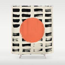 Mid Century Modern Art Print, SUN Art, Extra Large Wall Art, Mid Century Print, CIRCLE Print, Modern Shower Curtain